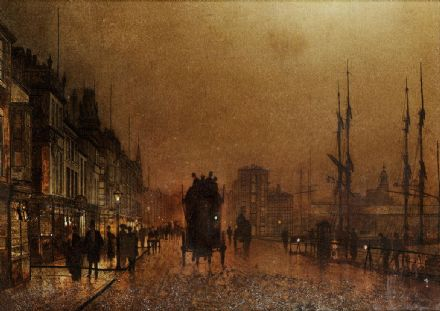 Grimshaw, John Atkinson: The Broomielaw, Glasgow. Fine Art Print/Poster. Sizes: A4/A3/A2/A1 (003328)